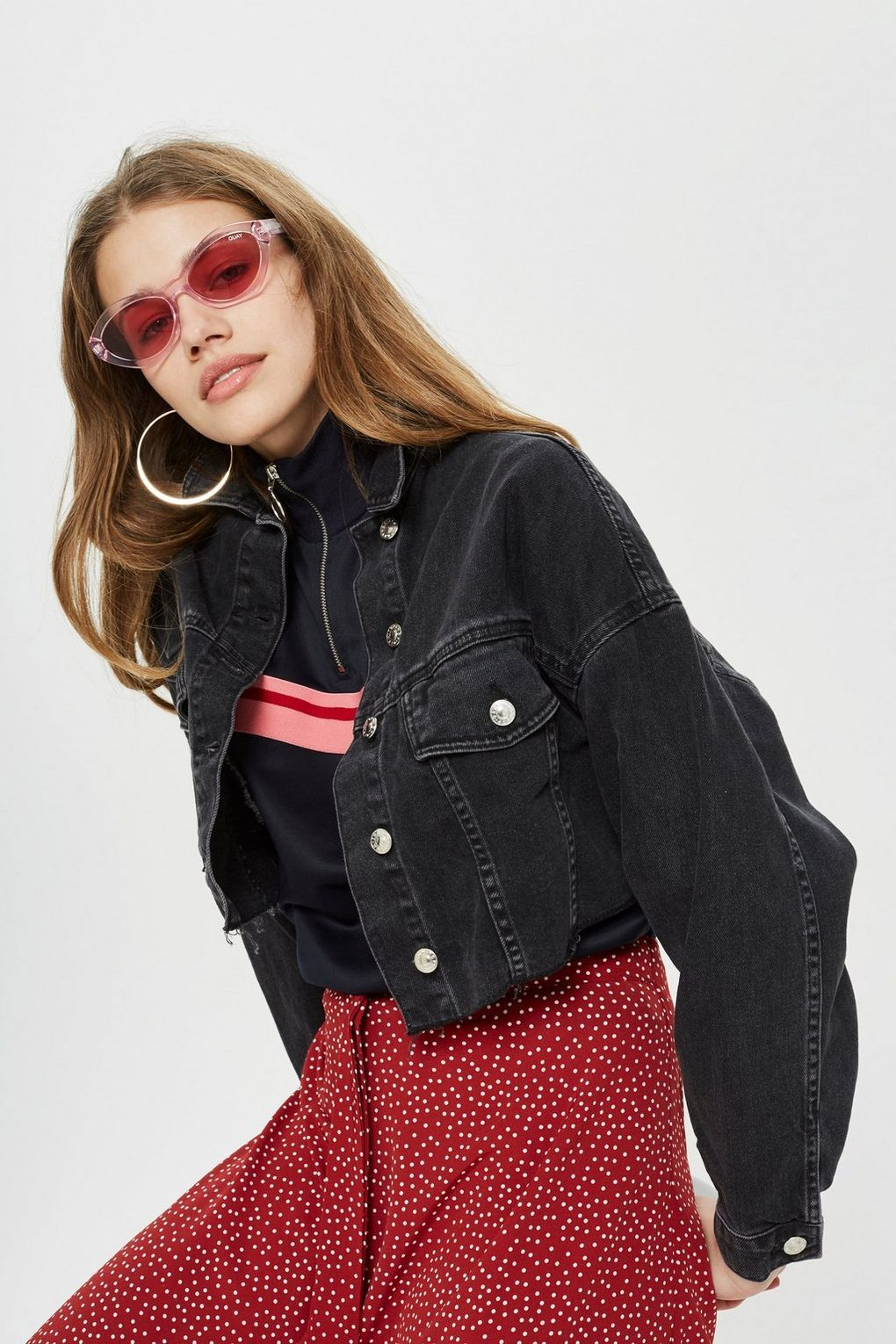 Moto Hacked Off Cropped Denim Jacket Topshop Cropped Denim Jacket Cropped Denim Cropped Denim Jacket Outfit