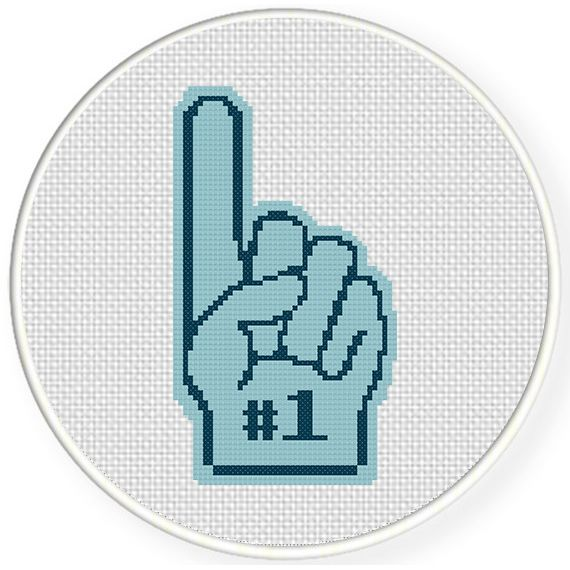 FREE for April 21st 2015 Only - Number One Fan Cross Stitch Pattern