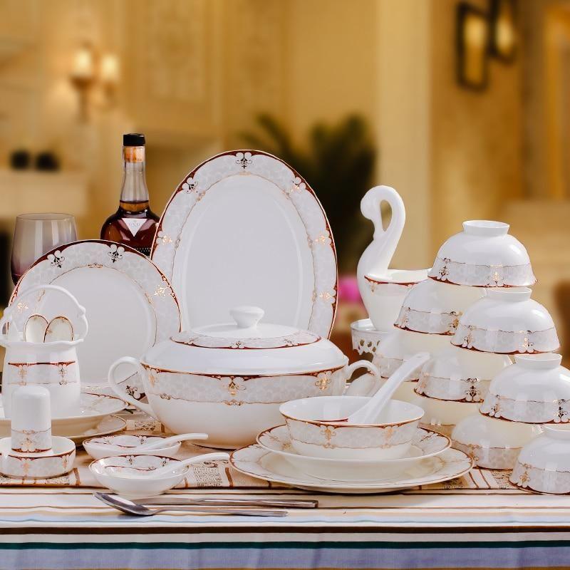 Jingdezhen Baroque Ceramic Dishes In Phnom Penh European Bone China Tableware Set Tableware Bone China Dinnerware Sets