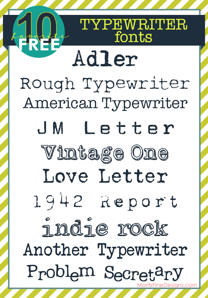 awesome variety of Typewriter Fonts, FREE to download