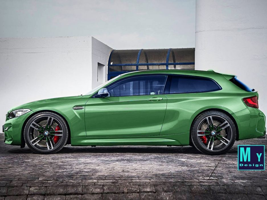 another estate car mess bmw m2 and they painted it green for Voordeligste Limousine Service.htm #10
