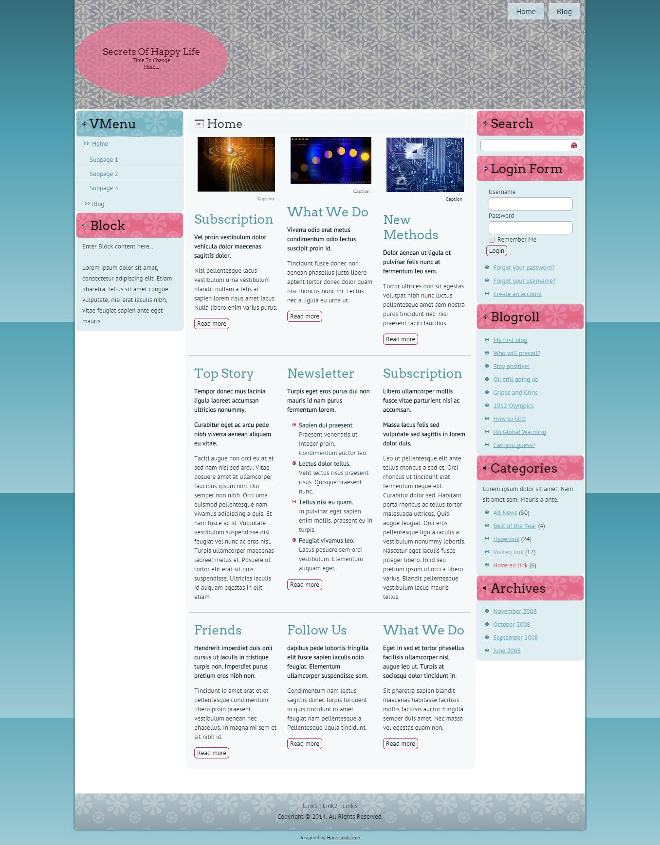 Happy Flowers | HackstockTech | Web Design Blogger Templates ...
