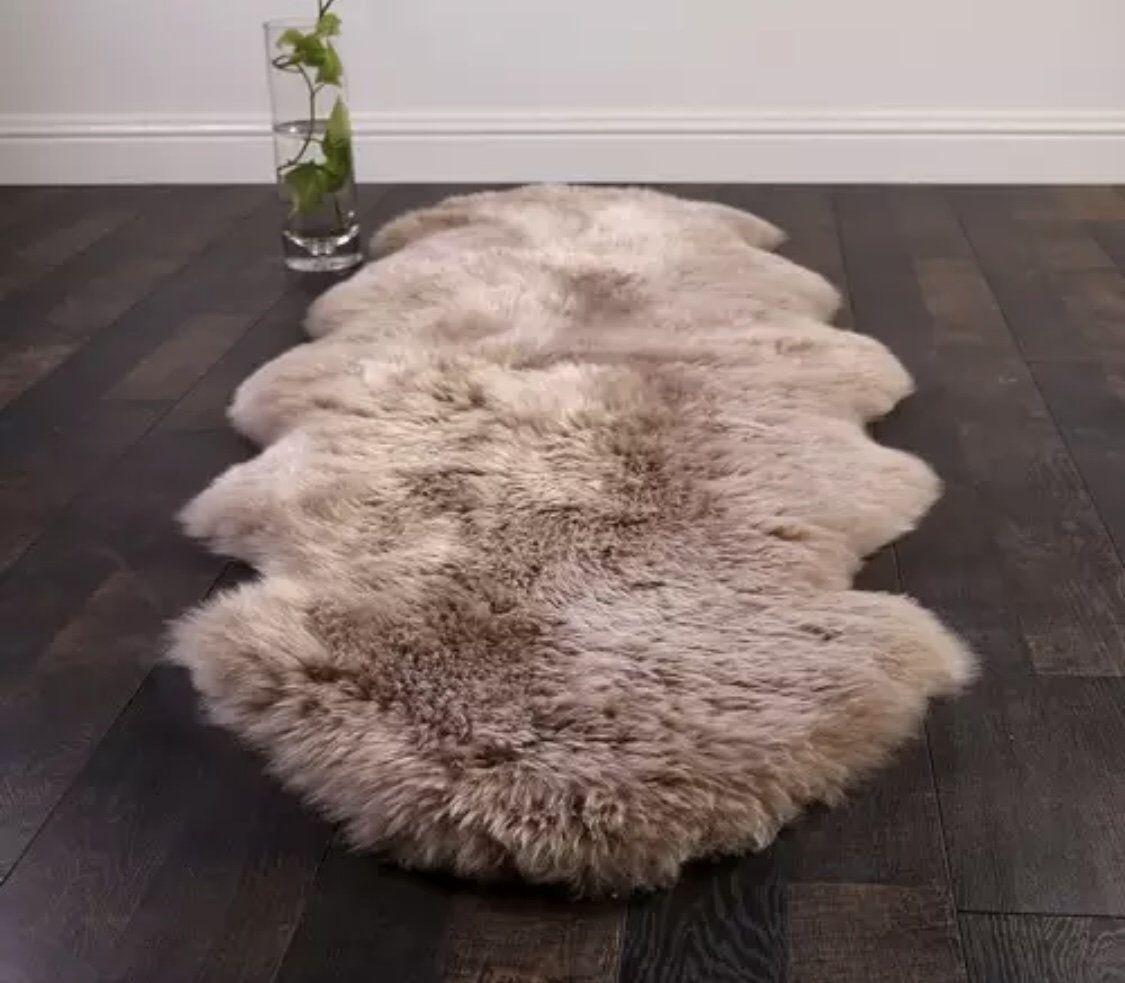 Genuine Sheepskin Pelt Handmade Premium Rugs 3 Colors Shaggy Sheepskin Fur Shaggy Rug Rugs On Carpet Fur Carpet