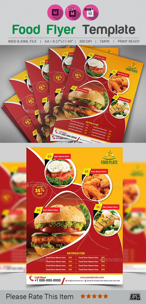 Food Flyer  Adobe Indesign Adobe And Food