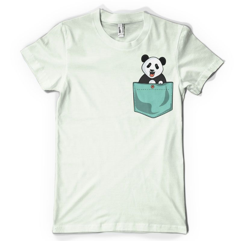 Panda Pocket T Shirt Design Designs Shirts