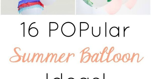 Liked on Pinterest: These colorful balloon crafts will really POP at a summer birthday party ice cream social or pool party!