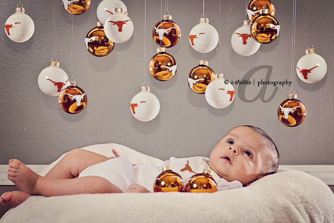 3 month UT Longhorn Christmas Ornaments | Photo by A ...