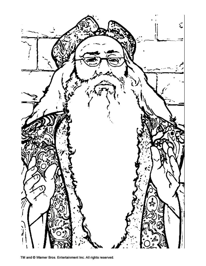 Harry potter coloring pages printable - Harry Potter Free Online Coloring Pages Artwork And Drawings