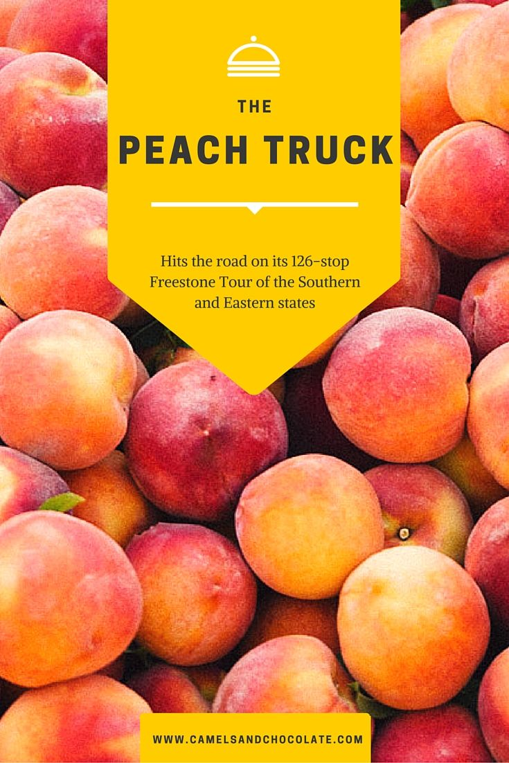 The Peach Truck Hits The Road On Its Freestone Tour In 2020 Peach Cheap Countries To Travel Traveling By Yourself