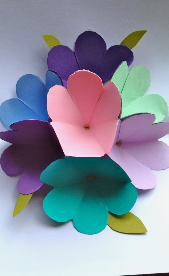 pop up mothers day card  pop up flower cards mothers day