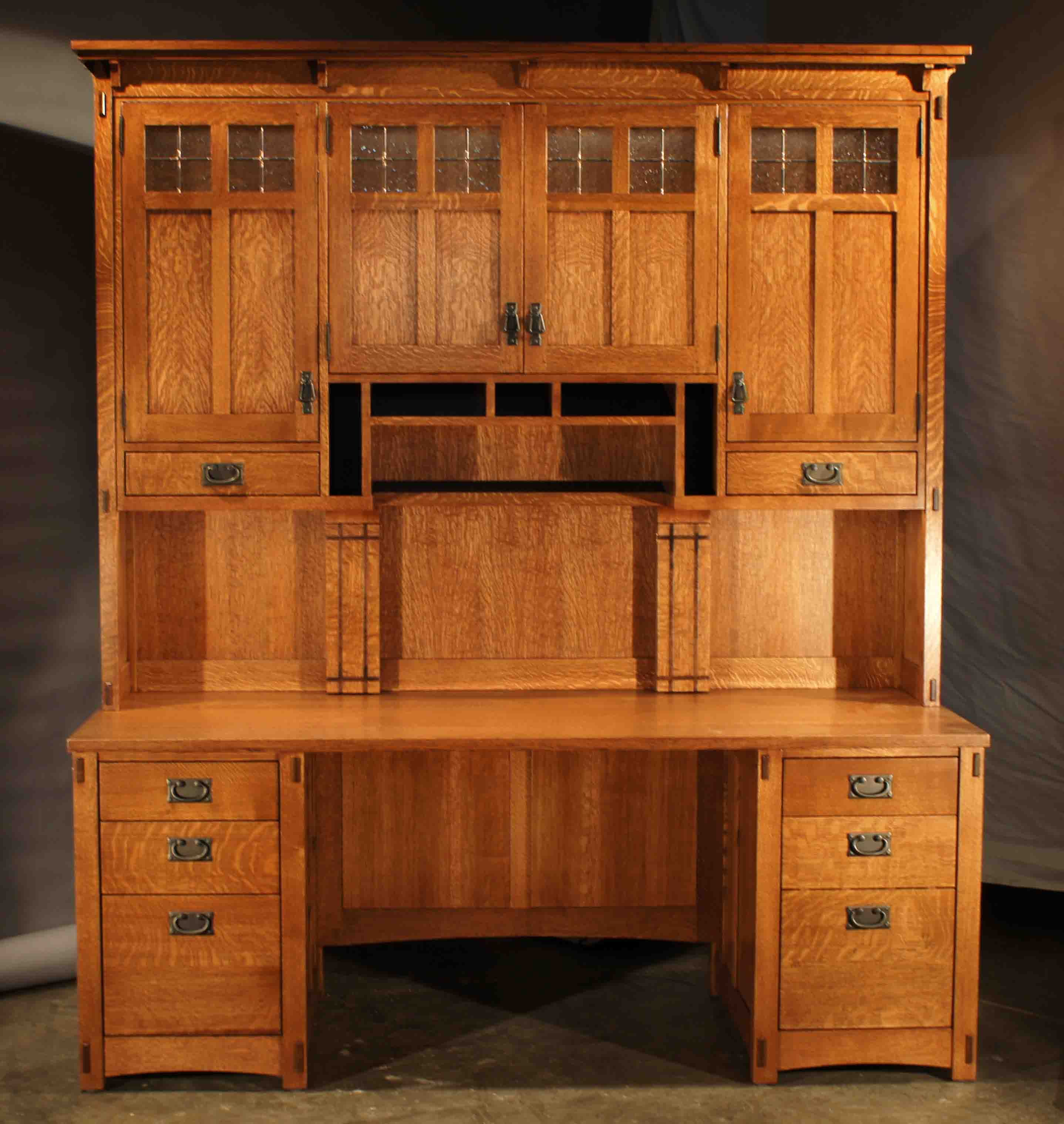Craftsman Style Desk And Hutch Roltgenswoodworks