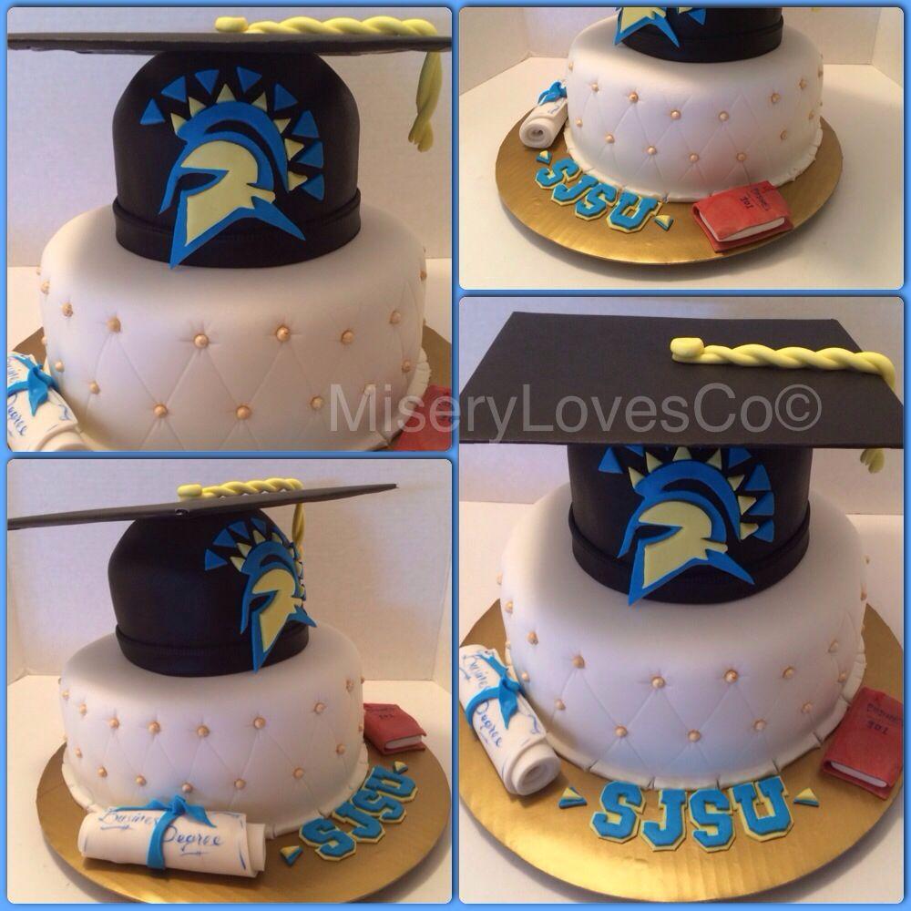 San Jose state grad cake Sjsu All edible More pics and videos at