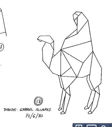 Origami instructions for this camel with a rider