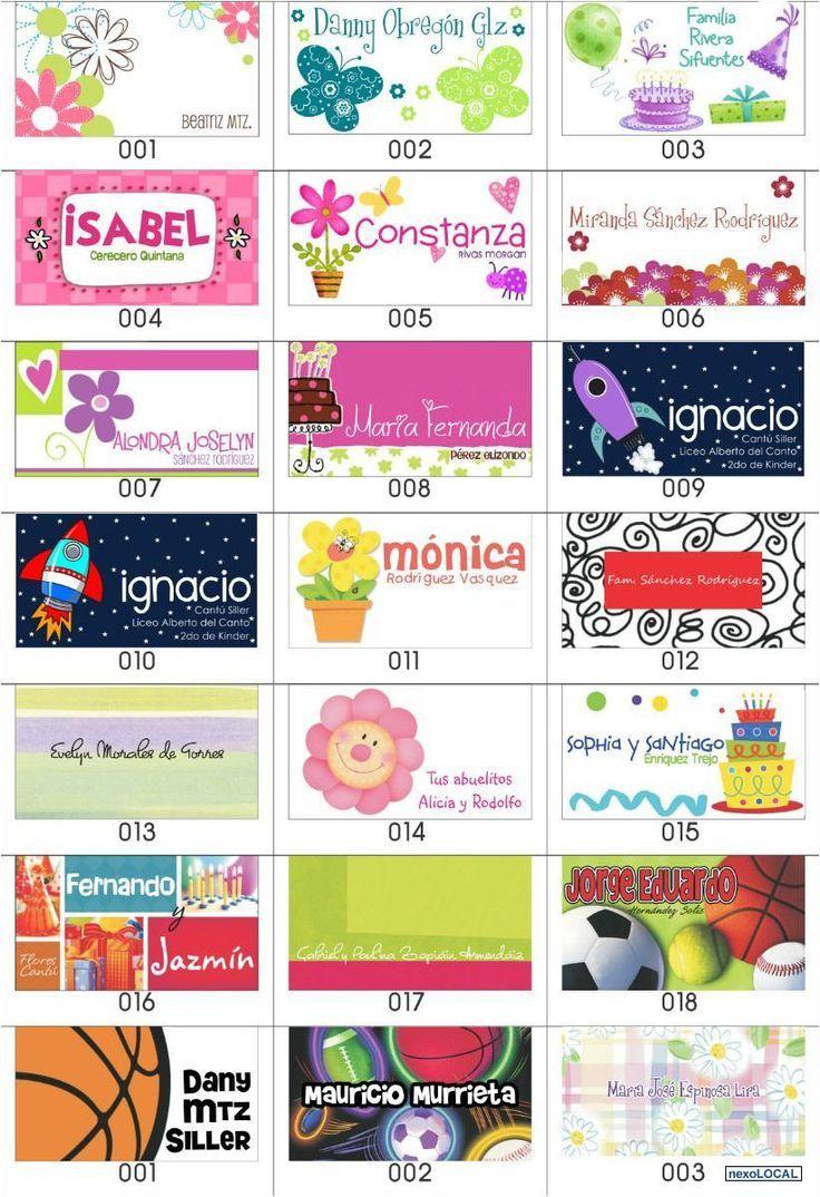 resultado de imagen para tarjetas de presentacion infantiles ema