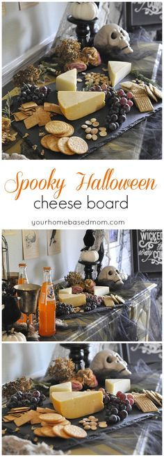Spooky Halloween Cheeseboard, for your Halloween dinner party - spooky halloween food ideas