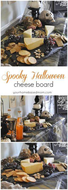 Spooky Halloween Cheeseboard, for your Halloween dinner party - pinterest halloween food ideas