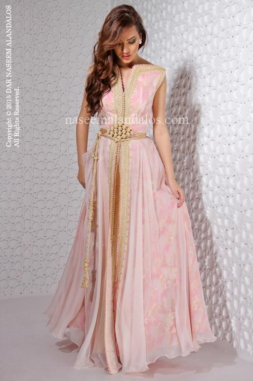 d9e11f7a3d One gorgeous pink modern moroccan takchita #moroccancaftan   Caftan ...