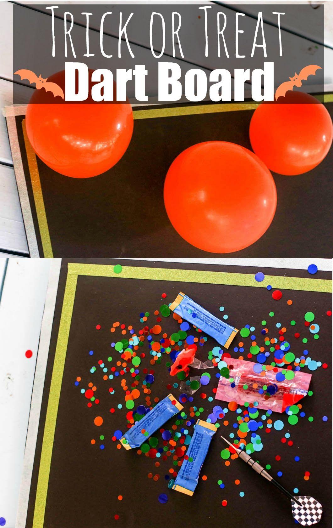 Halloween Trick or Treat Dartboard DIY Halloween trick