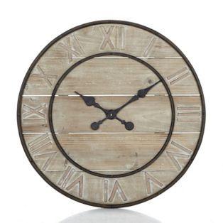 grande horloge en bois woody 2 horloges et. Black Bedroom Furniture Sets. Home Design Ideas