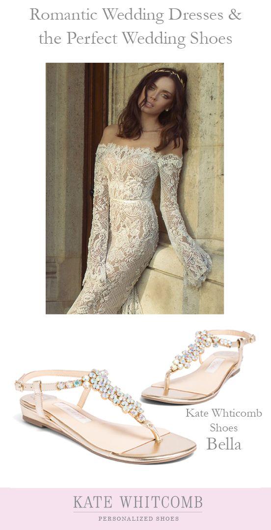 5f1e421af Gorgeous gold wedding sandals for the bride •Wedding flats •Wedding Shoes  flat •Comfortable wedding shoes •beach wedding shoes •sparkly wedding •Gold  shoe ...