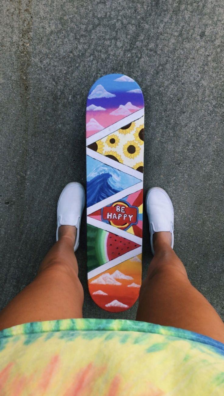 Skateboard Painting Ideas Skiing