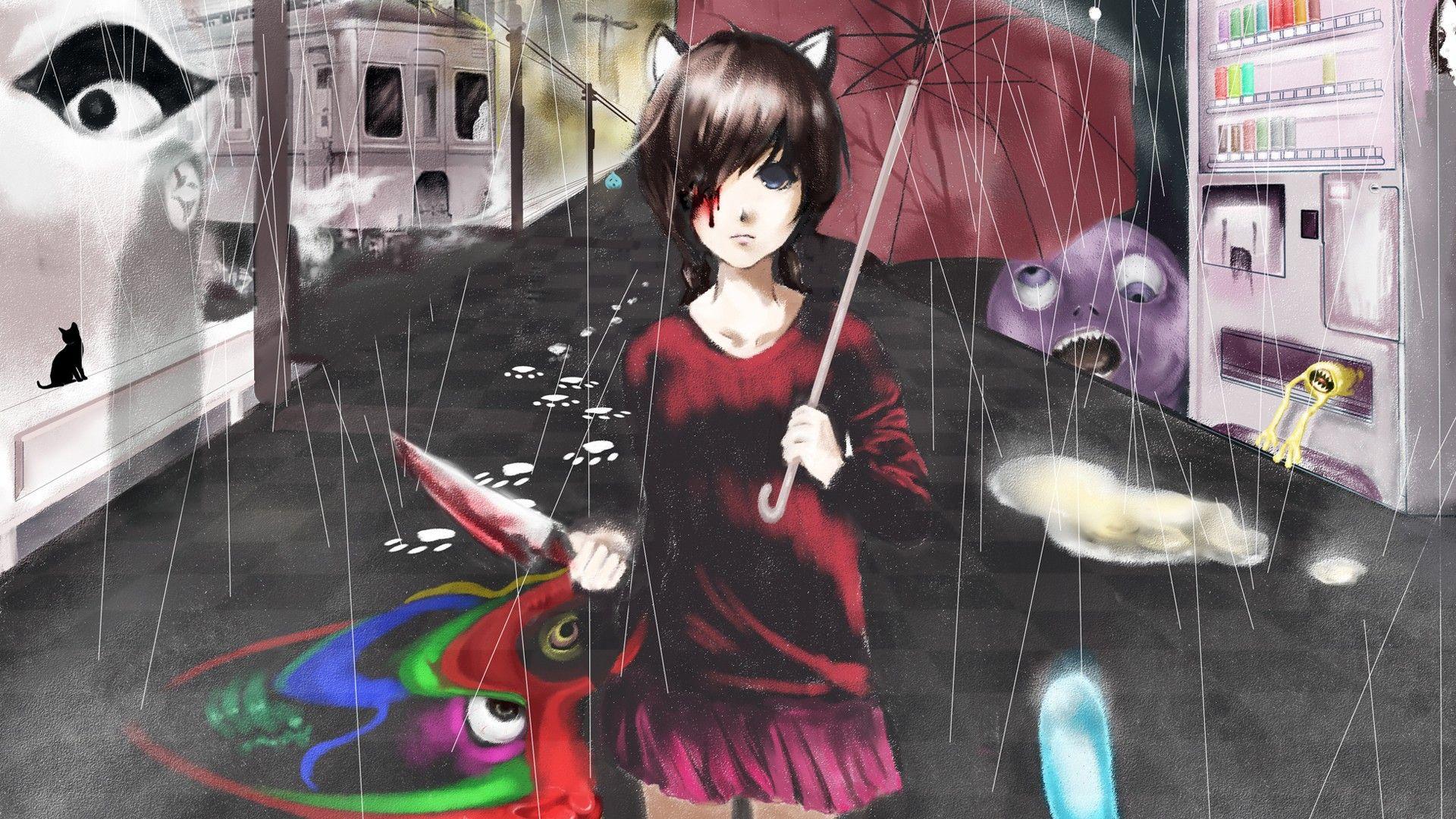Madotsuki Yume Nikki Wallpaper 2926371 Wallbase Cc Animal Ears Anime Anime Images