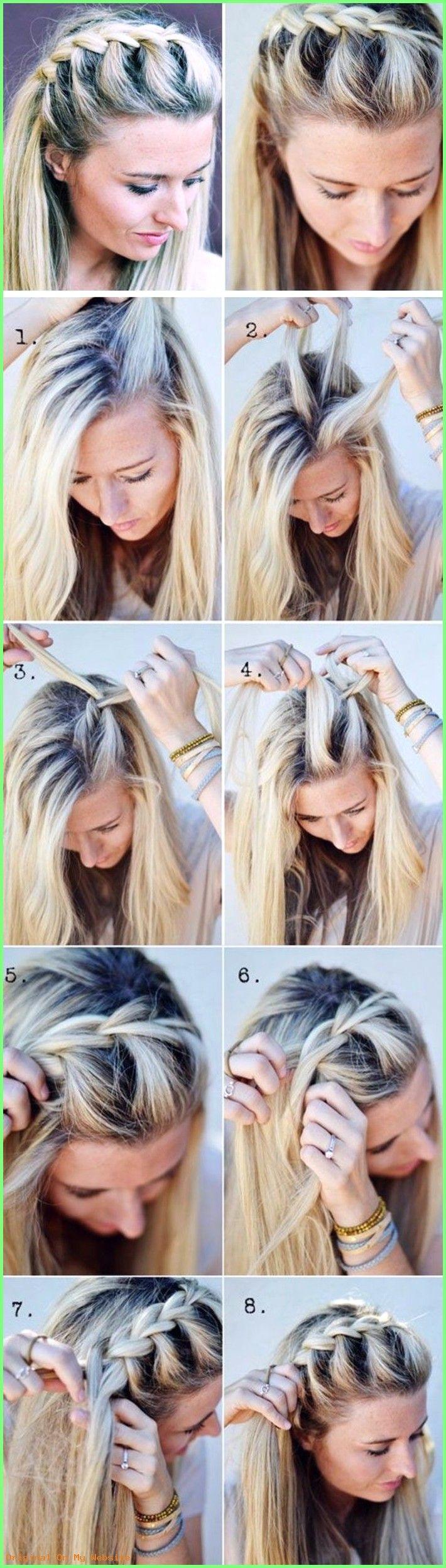 Geflochtene Frisuren Haare Flechten Mittellange Blonde Haare