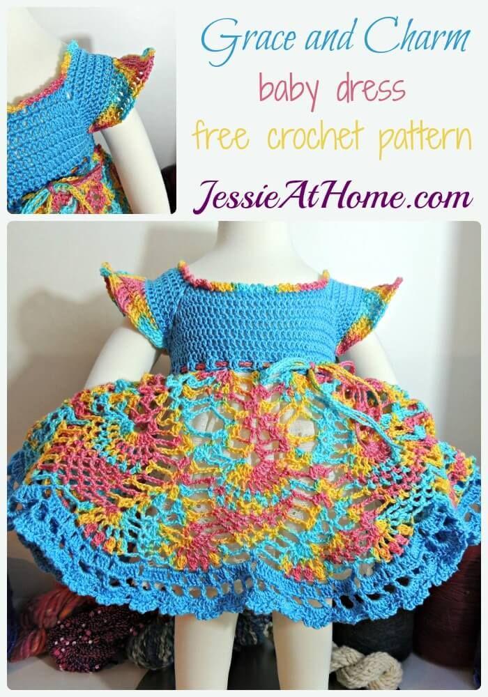 Grace and Charm baby dress - free crochet pattern | Tejido, Cosas ...