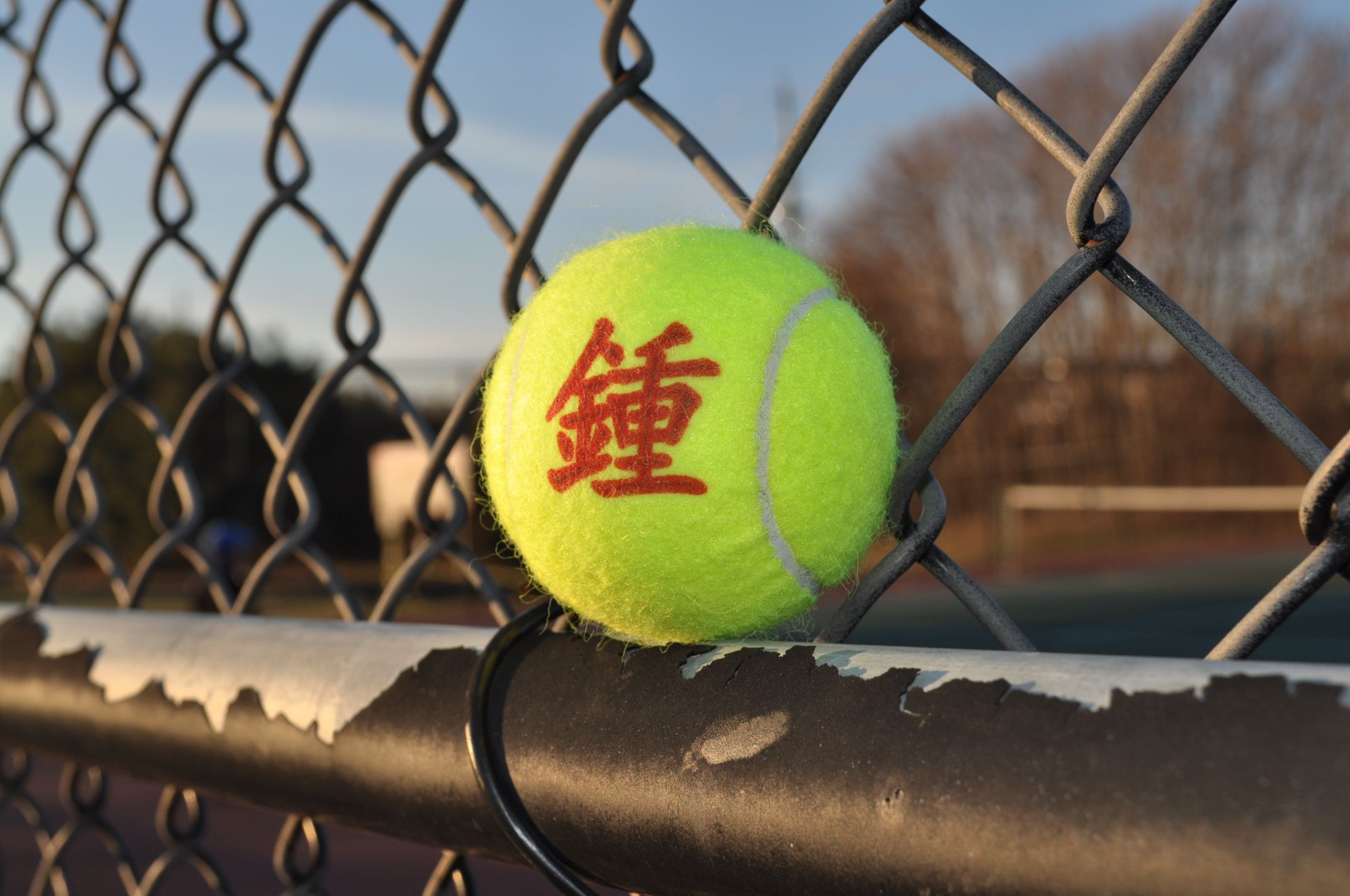 Custom Print Tennis Ball Chinese Character In Red Tennis Ball Custom Print Tennis