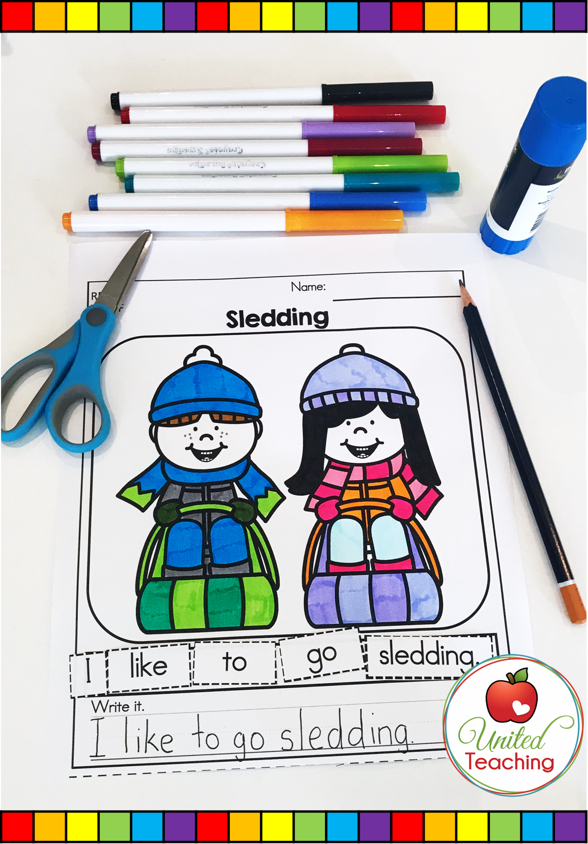 Winter Literacy Worksheets Kindergarten