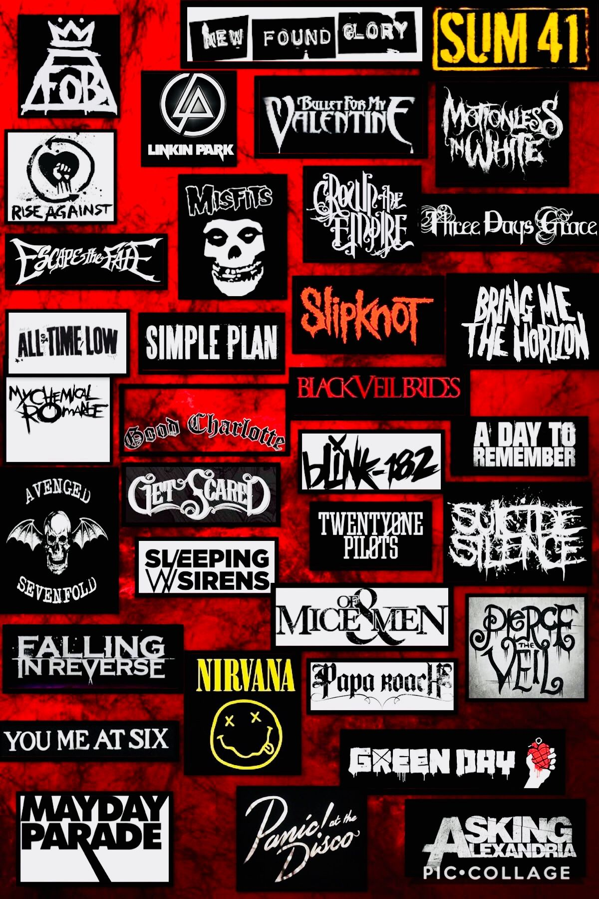 Pin by Guerreroerickismael on Coseee | Punk bands logos, Music collage, Rock  band logos