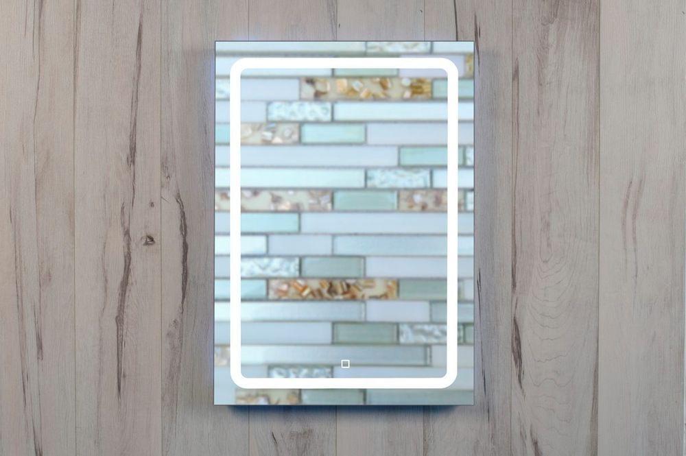 Led Lichtspiegel Bolonia 50x70 Cm Mit Touch Schalter Badspiegel