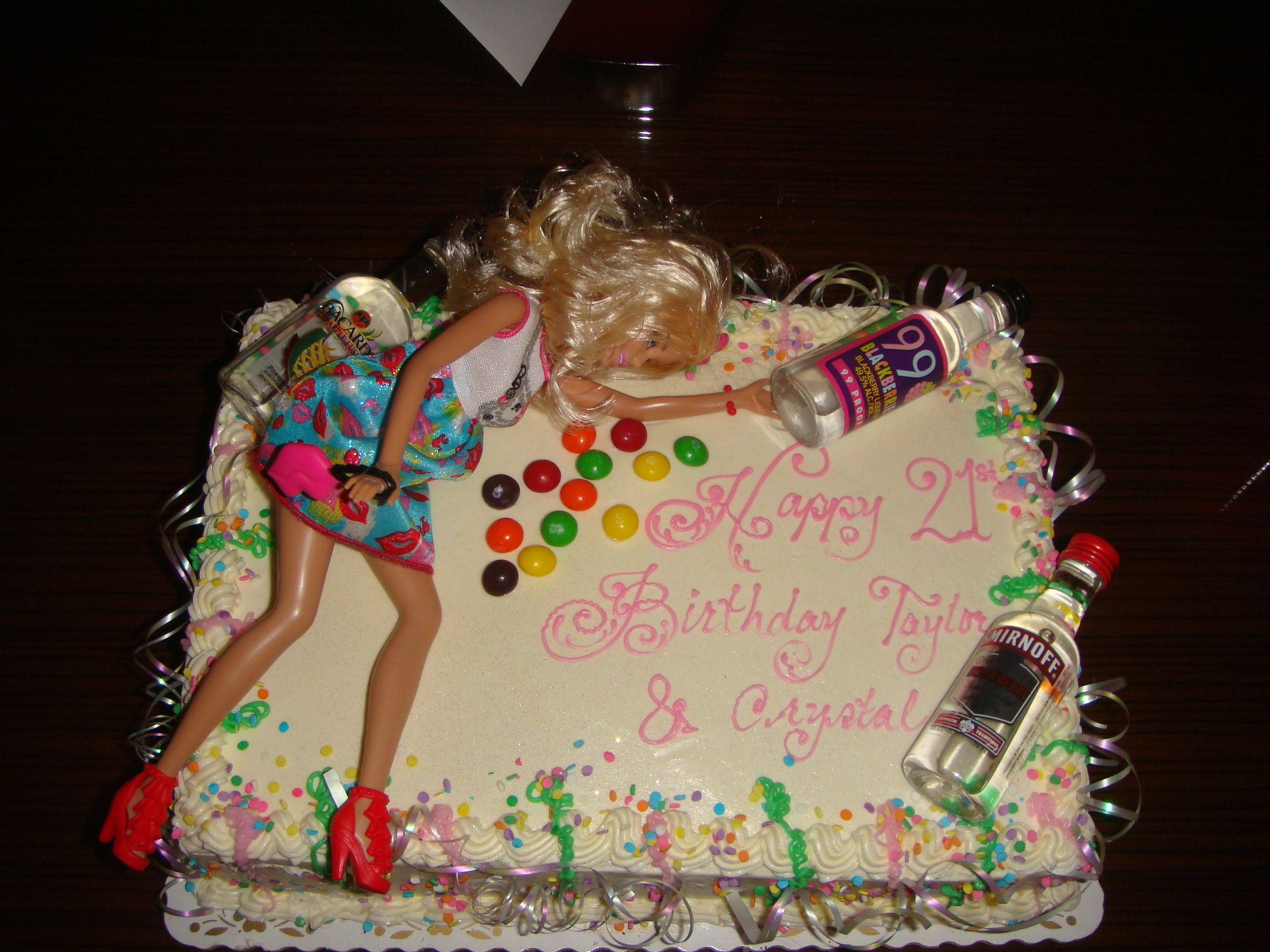drunk Barbie 21st birthday cake Party Ideas Pinterest 21st
