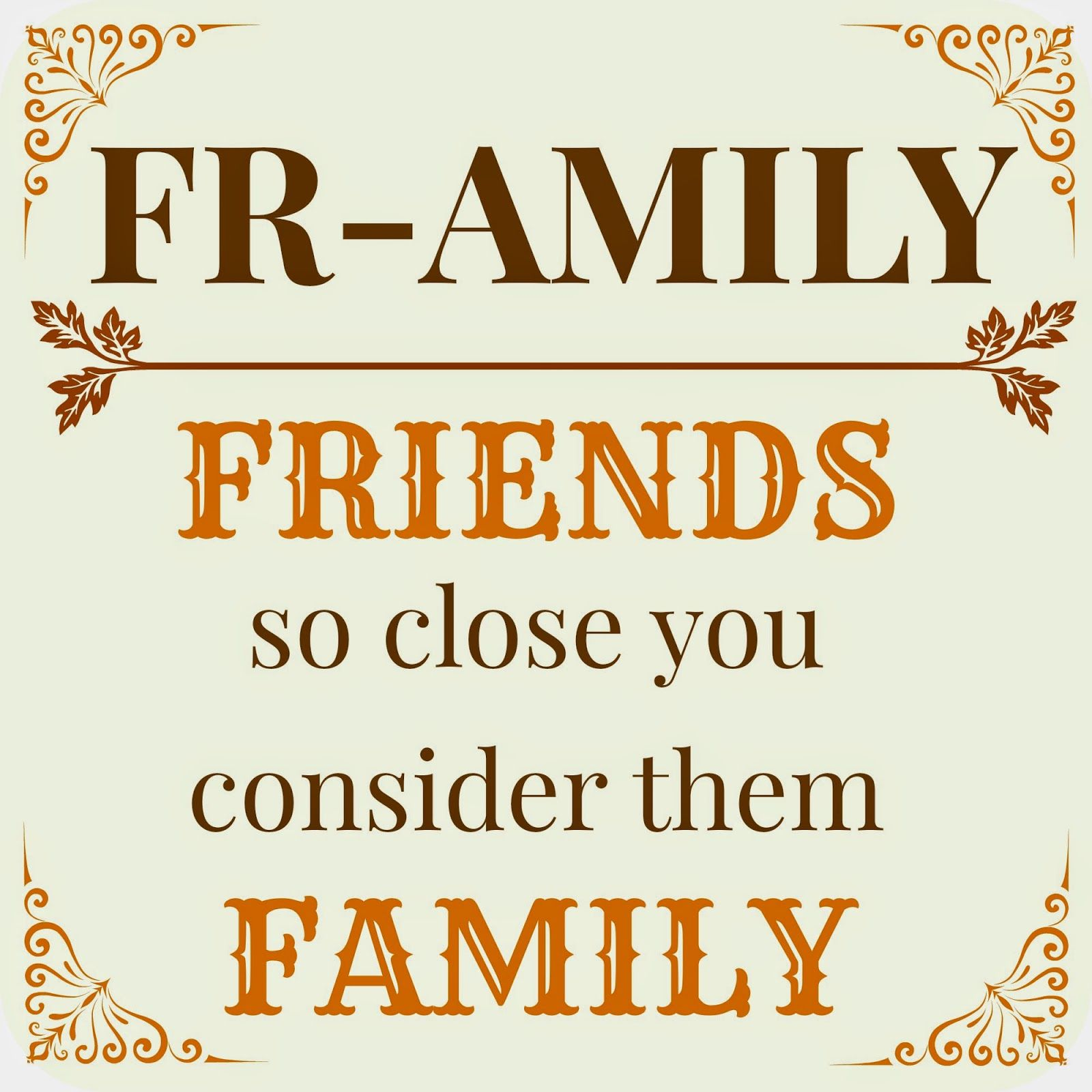 If you have a family that loves you, a few good friends