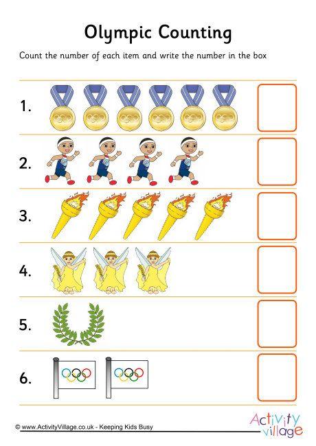 Olympic Counting 2 H O M E S C H O O L Pinterest Olympics