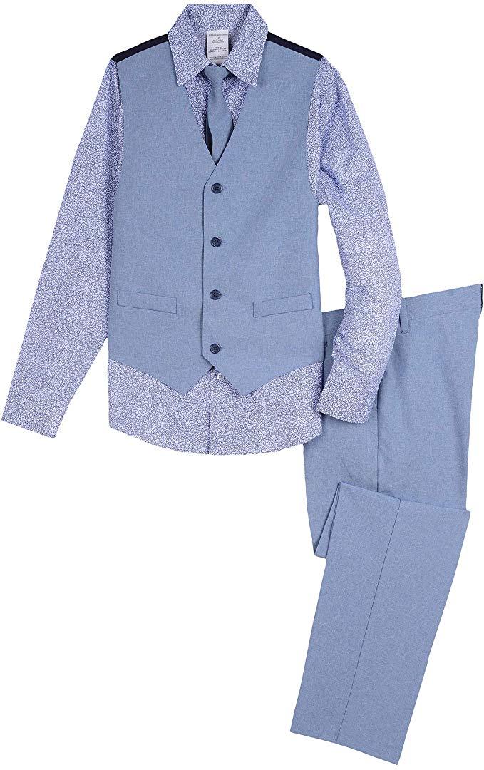 Van Heusen Boys 4-Piece Formal Suit Vest Set