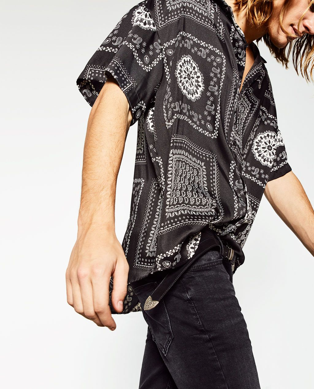3227a7b406 BANDANA SHIRT-NEW IN-MAN | ZARA United States | Swagger is for boys ...