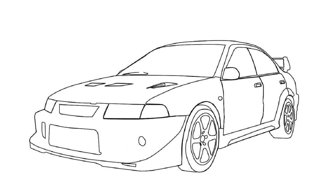 Fast And Furious Coloring Pages Lancer Evo