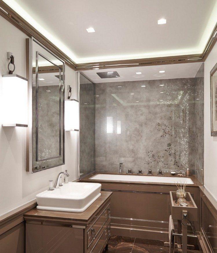 Badgestaltung mit Vintage Flair in braun und grau Ideen zum - badezimmer design badgestaltung