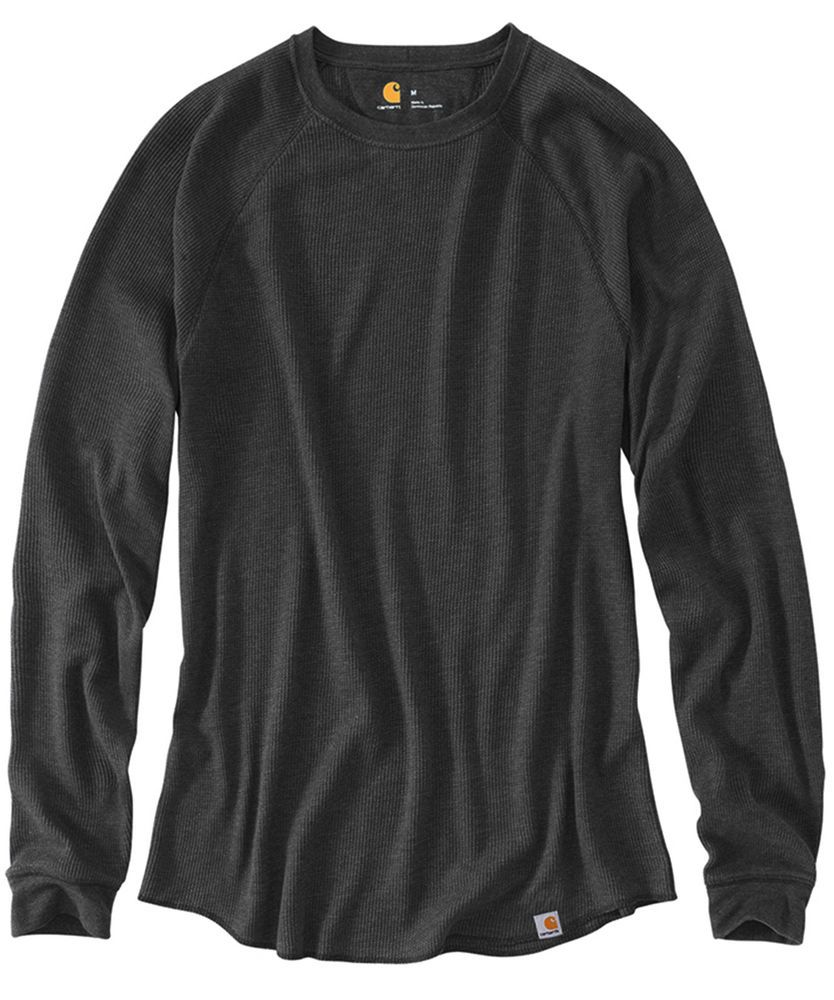 b2b9094a CARHARTT MENS SHIRT THERMAL WAFFLE KNIT LIGHTWEIGHT Work NWT 3XL Black # carhartt #pullover