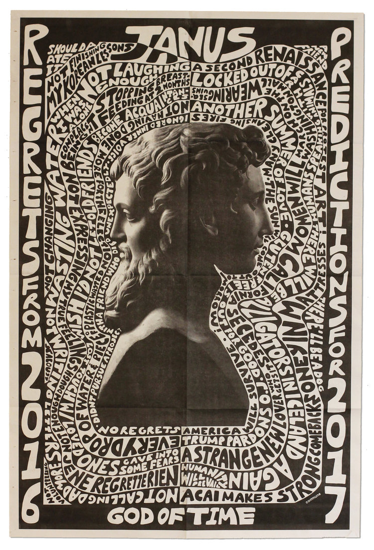 Janus God Of Beginnings Gates Transitions Time Duality Doorways Passages Frames And Endings Poster Hungerford Cafe Posters