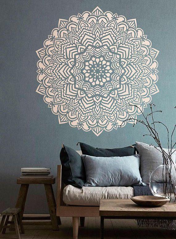 Stencil Grandi Per Pareti.Mandala Stencil Mandala Pattern For Diy Wall Decor Modern