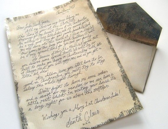 Handwritten letter from santa handwriting pinterest handwritten letter from santa spiritdancerdesigns Gallery