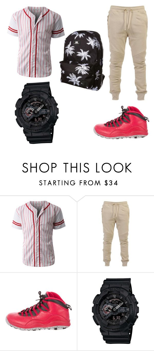 """""""Izzy's outfit"""" by maryjsullivan ❤ liked on Polyvore featuring LE3NO, Balmain, NIKE, G-Shock, Vans, men's fashion and menswear"""