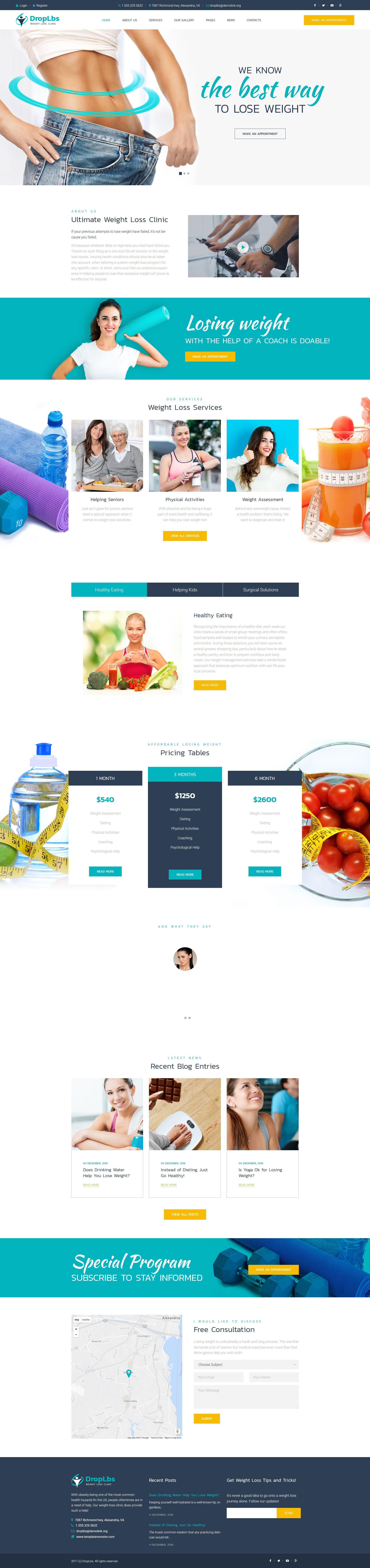 Weight Loss WordPress Theme
