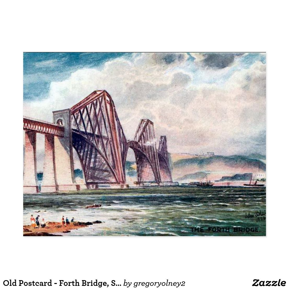 Old Postcard - Forth Bridge, Scotland