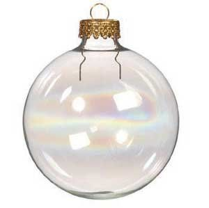 Christmas Concepts/® Pack of 10-60mm Christmas Tree Baubles Iridescent White Sparkle Baubles