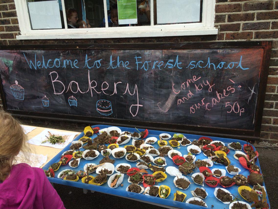 Forest School mud bakery