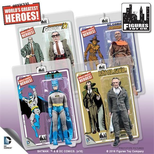 DC Comics Retro Style 8 Inch Figures Batman Retro Series 4 Set of all 4