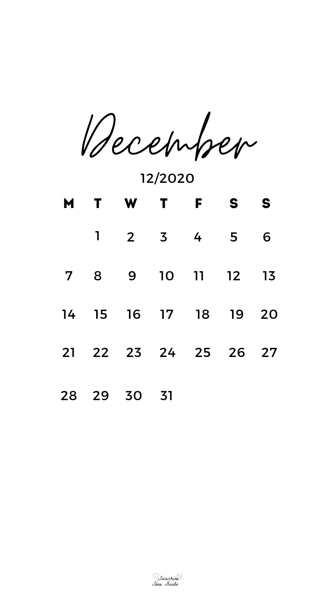 December 2020 Wallpaper In 2020 December Wallpaper Iphone Calendar Wallpaper Cute Christmas Wallpaper